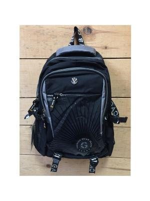 Рюкзак спортивный, цвет черный, Black625, Total Black Gaoba Black625