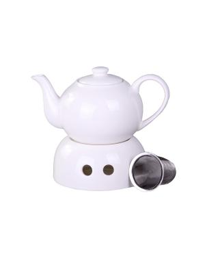 Чайник с подогревом металлическим фильтром 700 мл., шт PATRICIA. Цвет: белый