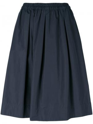 Пышная юбка миди Aspesi. Цвет: синий