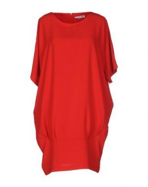Короткое платье ANGELA MELE MILANO. Цвет: кирпично-красный
