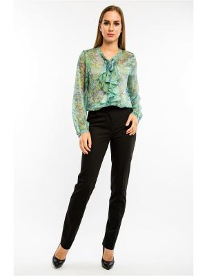 Блузка MoNaMod New Look. Цвет: салатовый, бежевый, белый, прозрачный