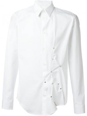 Рубашка с заклепками Maison Margiela. Цвет: белый