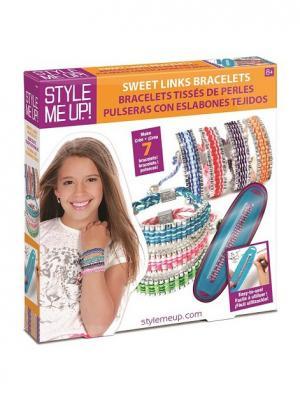 Набор для создания браслетов Красивые звенья STYLE ME UP. Цвет: оранжевый, белый, розовый