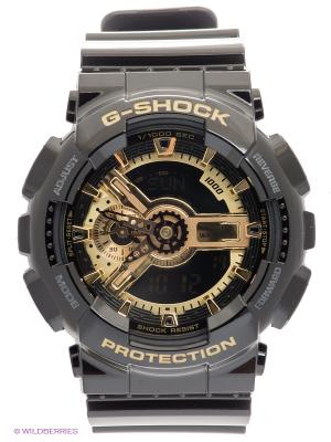 Часы G-SHOCK GA-110GB-1A CASIO. Цвет: черный, золотистый