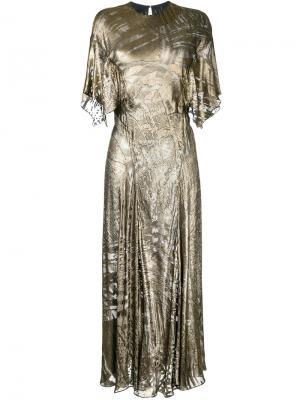 Платье Amour Cleopatra Bianca Spender. Цвет: металлический