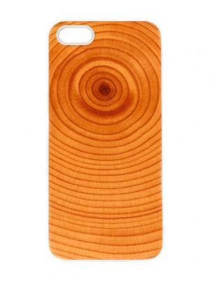 Чехол для iPhone 5/5s Пенек Chocopony. Цвет: светло-коричневый, коралловый, оранжевый