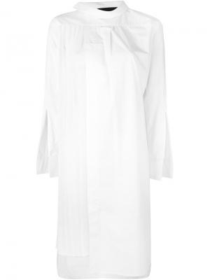 Платье-рубашка Collyn Erika Cavallini. Цвет: белый