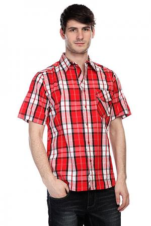 Рубашка в клетку  Maxwell Red Innes. Цвет: красный,белый
