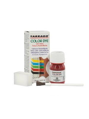 Краситель  для гладкой кожи TDC01 COLOR DYE, стекло, 25мл. (056 тёмно-вишневый) Tarrago. Цвет: темно-красный