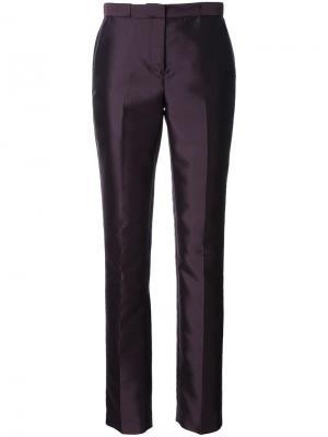 Классические брюки кроя слим Bianca Spender. Цвет: розовый и фиолетовый