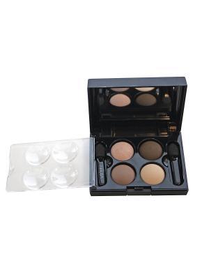 Тени для век КватроQuattro Eyeshadow Mat 643, 2,4г NOUBA. Цвет: бежевый, коричневый, светло-коричневый