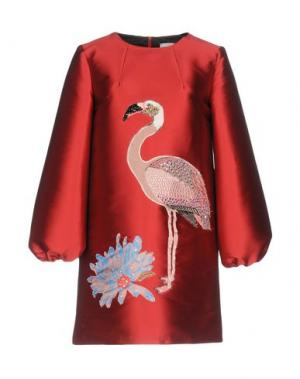 Короткое платье LEITMOTIV. Цвет: красно-коричневый
