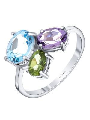 Кольцо Teosa. Цвет: фиолетовый, голубой, зеленый