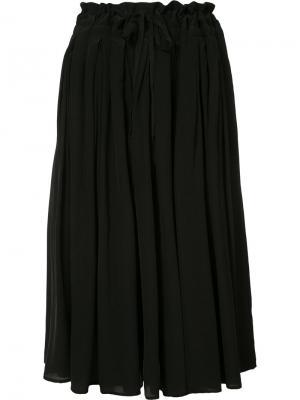 Присборенная юбка Forme Dexpression D'expression. Цвет: чёрный