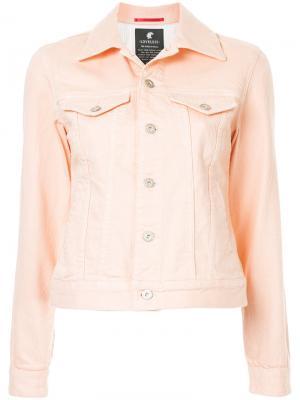Джинсовая куртка Loveless. Цвет: розовый и фиолетовый
