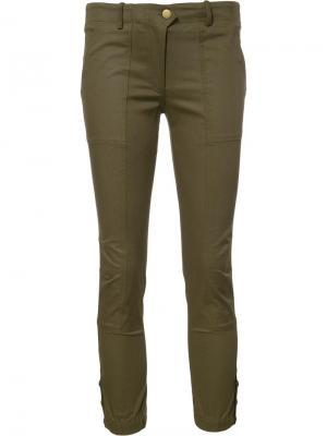 Укороченные брюки Veronica Beard. Цвет: зелёный