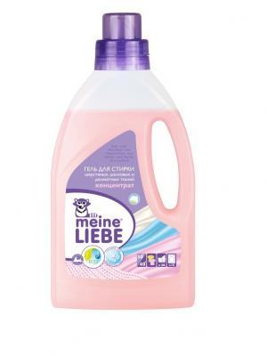 Гель для стирки шерстяных, шелковых и деликатных тканей концентрат, 800мл MEINE LIEBE. Цвет: розовый