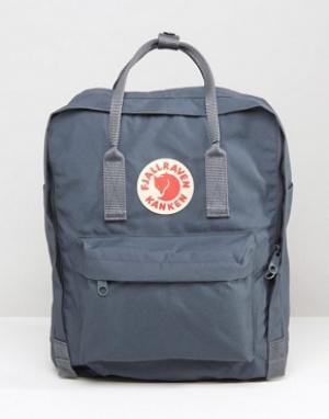 Fjallraven Темно-серый рюкзак объемом 16 литров Kanken. Цвет: серый