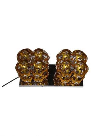 Настенная лампа Mauro Ferretti. Цвет: золотой