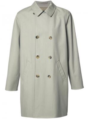 Двубортное пальто A.P.C.. Цвет: серый