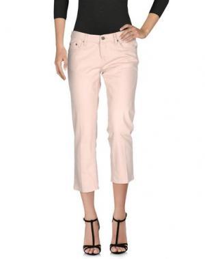 Джинсовые брюки-капри SEVEN7. Цвет: розовый