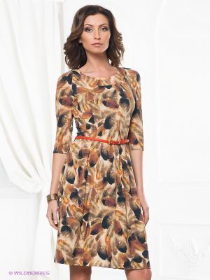 Платье Classic Style. Цвет: кремовый, бежевый, оранжевый
