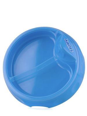 Тарелочка двухсекционная NUBY. Цвет: синий