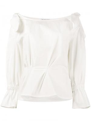 Блузка с открытыми плечами Michelle Rejina Pyo. Цвет: белый
