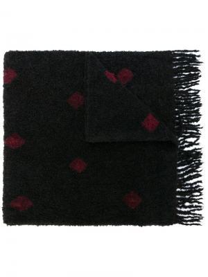 Платок с узором Suzusan. Цвет: чёрный