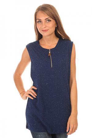 Топ женский  Joplin Top Shirt Dark Blue Picture Organic. Цвет: синий,белый