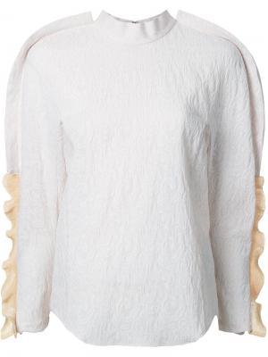 Блузка с оборками Toga. Цвет: белый