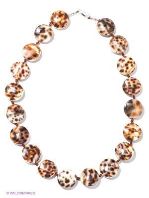 Ожерелье Infiniti. Цвет: коричневый, молочный