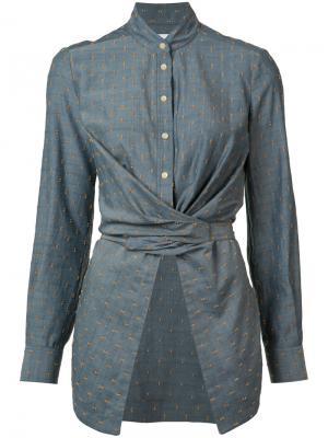 Блузка с бантом спереди Yigal Azrouel. Цвет: синий