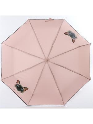 Зонт ArtRain. Цвет: коричневый, розовый