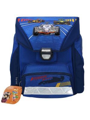 Ранец школьный FAVOURITE COLLECTION Formula 1 Tiger Family. Цвет: синий