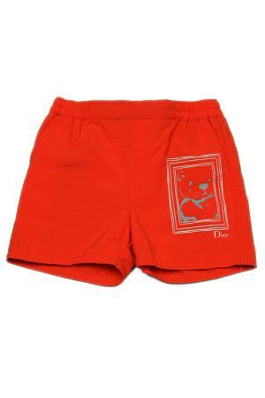 Пляжные шорты Baby Dior. Цвет: красный