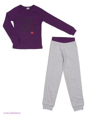 Пижама MANAI. Цвет: фиолетовый, светло-серый