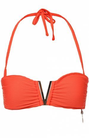 Бра-бандо с фактурной декоративной отделкой Heidi Klein. Цвет: оранжевый