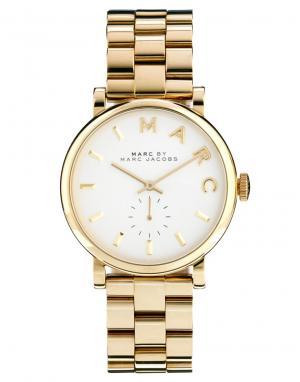 Marc Jacobs Золотистые часы Baker MBM3243. Цвет: золотой