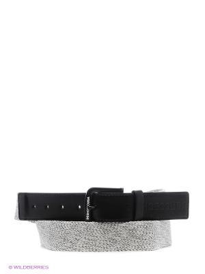 Ремень DC Shoes. Цвет: серый, черный