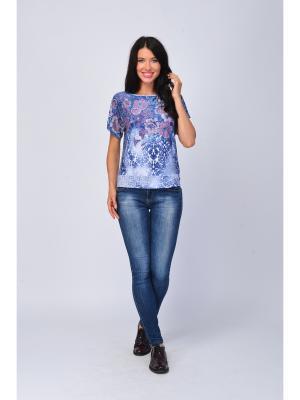Блузка Maria Velada. Цвет: синий