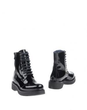 Полусапоги и высокие ботинки KEYS. Цвет: черный