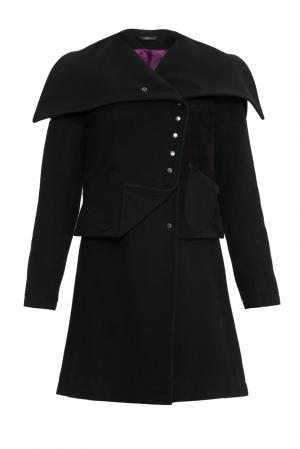 Пальто-трансформер с замшевой отделкой 156176 A-anika. Цвет: черный