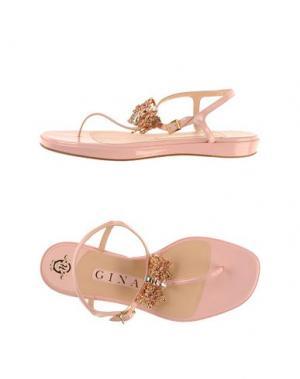 Вьетнамки GINA. Цвет: розовый