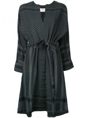 Платье-кимоно Cecilie Copenhagen. Цвет: серый