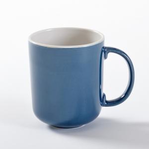 4 чашки из керамики, Déonie La Redoute Interieurs. Цвет: зеленая мята,синий