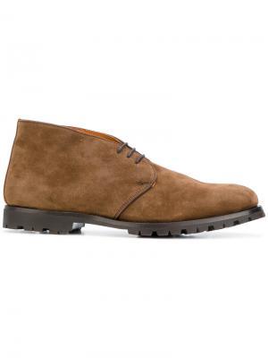 Contrast lining desert boots Andrea Ventura. Цвет: коричневый