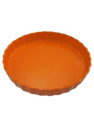 Блюдо для пирога 30х30х4,4 см Appolia. Цвет: оранжевый