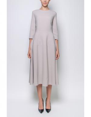 Однотонное платье Poustovit. Цвет: серый