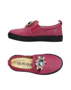 Низкие кеды и кроссовки QUIS. Цвет: фуксия